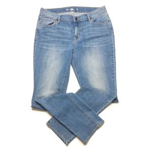 Old navy Droit straight blue Jean's 10 long